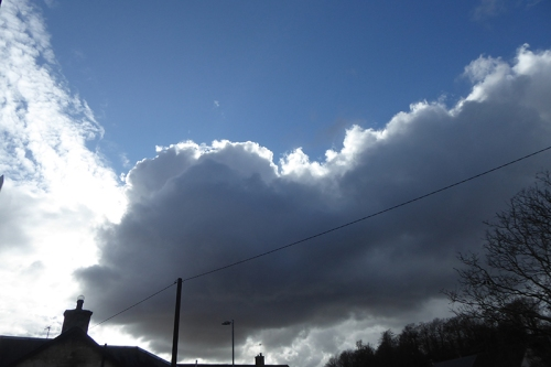 clouds over Langholm