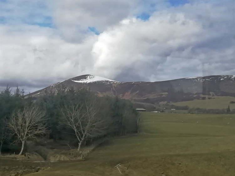 hills from train