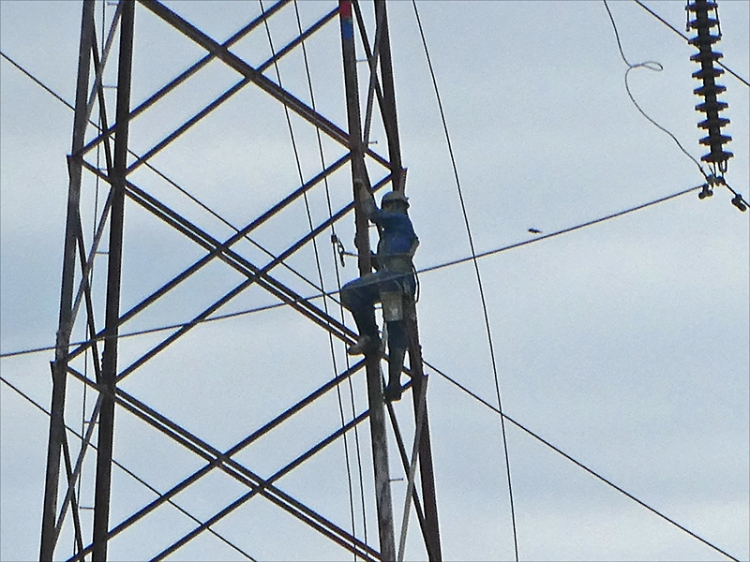 man up pylon