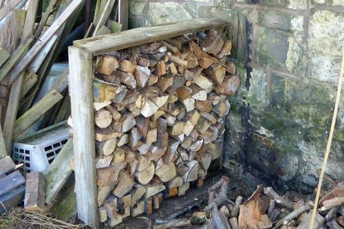 neat wood pile