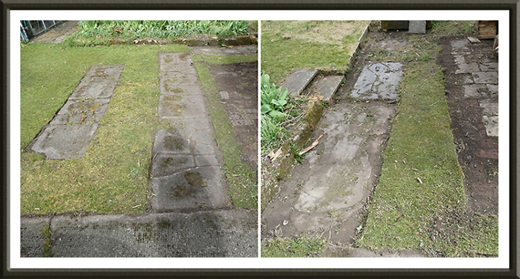 cleared paving stones