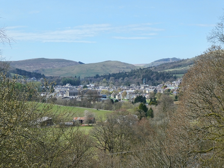 Langholm view from round house