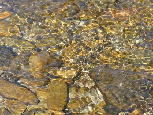 stones underwater