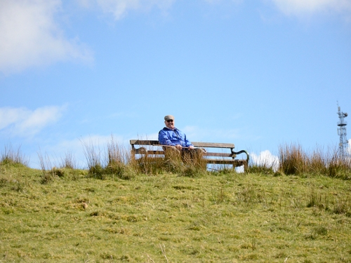 Tom on a bench