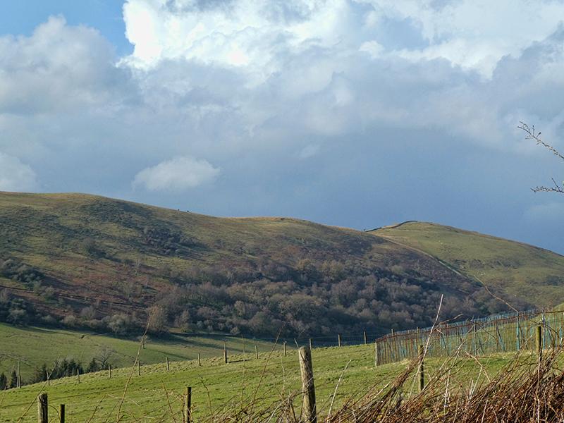 view f Potholm Hill ridge