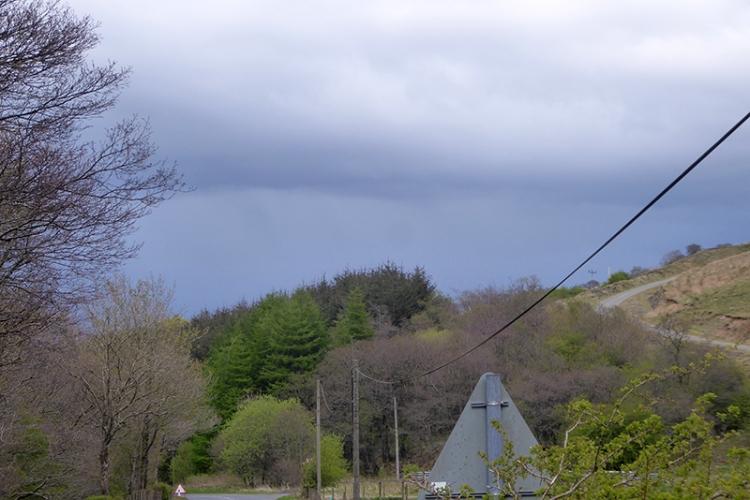 dark clouds over Langholm