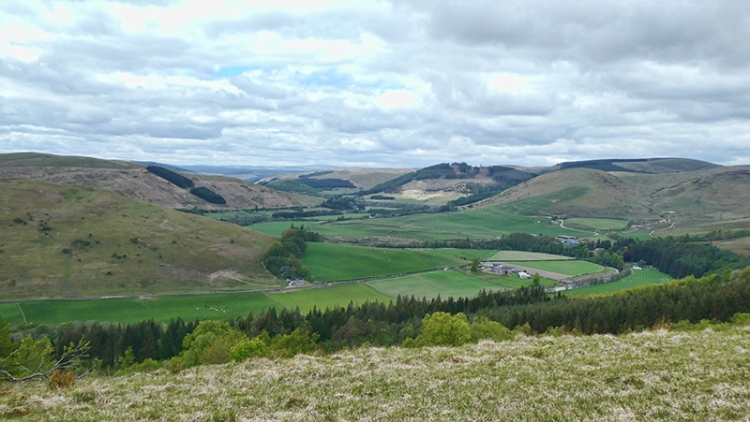 esk valley from castle hill