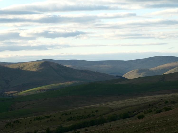 evening view from white yett