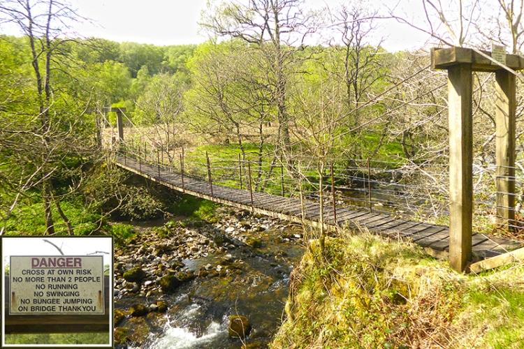 footbridge tarras