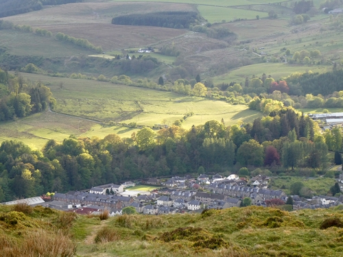 langholm late evening from whita