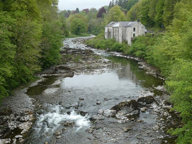 low water in esk from skippers bridge