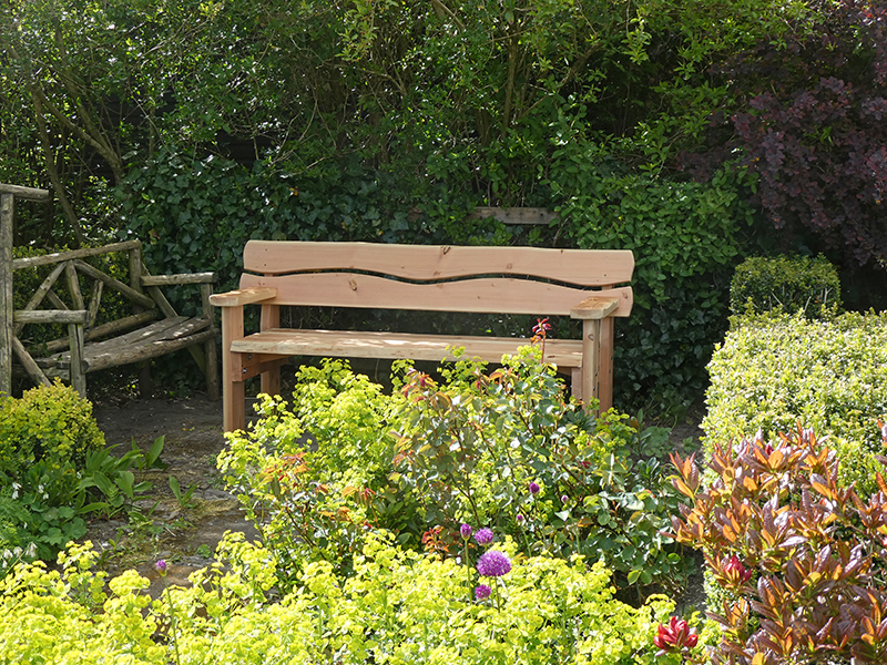 new bench in situ