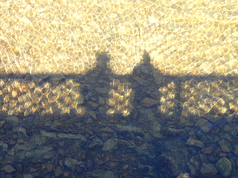 reflection on bridge